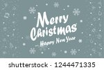 merry christmas calligraphy... | Shutterstock .eps vector #1244471335