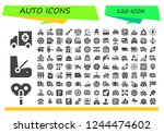 vector icons pack of 120 filled ...   Shutterstock .eps vector #1244474602