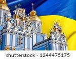 view of the st. michaels golden ... | Shutterstock . vector #1244475175