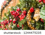 view of the christmas... | Shutterstock . vector #1244475235