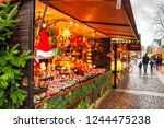 view of the counter with... | Shutterstock . vector #1244475238