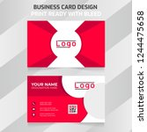 red colour modern business card....