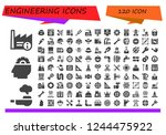 vector icons pack of 120 filled ... | Shutterstock .eps vector #1244475922