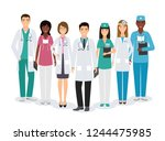 group of medical people... | Shutterstock . vector #1244475985