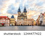old town square and the church... | Shutterstock . vector #1244477422