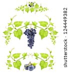 Ornamental Motif Blue Wine Grape - Fine Art prints