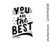 kids lettering phrase you are... | Shutterstock .eps vector #1244496838