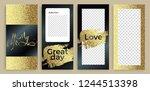instagram stories templates ... | Shutterstock .eps vector #1244513398