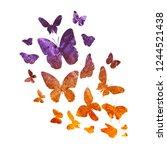 Flock Of Vintage Butterflies On ...