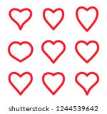 valentine card love hearts... | Shutterstock .eps vector #1244539642