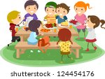 illustration of kids having a... | Shutterstock .eps vector #124454176