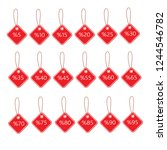 sale tags set vector and... | Shutterstock .eps vector #1244546782