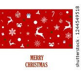 beautiful christmas card with... | Shutterstock .eps vector #1244549518