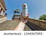 berlin  germany   july 14 2018  ... | Shutterstock . vector #1244567095