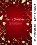 banner with vector christmas... | Shutterstock .eps vector #1244573095