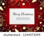 christmas vector background.... | Shutterstock .eps vector #1244573395