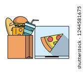 fast food order   Shutterstock .eps vector #1244581675