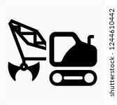 glyph dragline excavator pixel... | Shutterstock .eps vector #1244610442