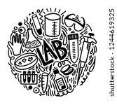 hand sketched doodle ... | Shutterstock .eps vector #1244619325
