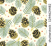 vector seamless pattern with... | Shutterstock .eps vector #1244624482