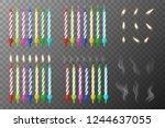 vector 3d realistic different... | Shutterstock .eps vector #1244637055