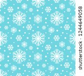 snowflakes seamless winter... | Shutterstock .eps vector #1244649058