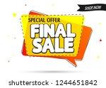 final sale  speech bubble... | Shutterstock .eps vector #1244651842