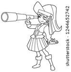 full length line art...   Shutterstock .eps vector #1244652742
