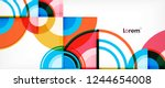 circle abstract background ...   Shutterstock .eps vector #1244654008