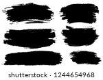 vector set of hand drawn brush... | Shutterstock .eps vector #1244654968