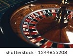 Roulette table in casino  with...