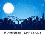 night time city scene... | Shutterstock .eps vector #1244657335