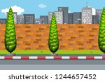 road in urban city illustration | Shutterstock .eps vector #1244657452