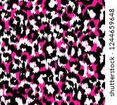 seamless faux leopard skin... | Shutterstock .eps vector #1244659648