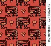seamless geometrical pattern... | Shutterstock .eps vector #1244662642