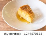 slice of tapioca pudding on...   Shutterstock . vector #1244670838
