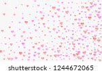 valentines day greeting or... | Shutterstock . vector #1244672065