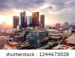Los Angeles Downtown Skyline A...