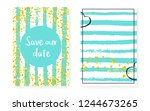bridal shower set with dots and ... | Shutterstock .eps vector #1244673265