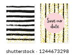 gold glitter sequins with dots. ... | Shutterstock .eps vector #1244673298