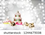 christmaswith the shape of a... | Shutterstock . vector #1244675038