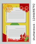 christmas greeting card with... | Shutterstock .eps vector #1244698792
