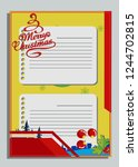 christmas greeting card with... | Shutterstock .eps vector #1244702815