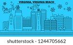 united states  virginia beach... | Shutterstock .eps vector #1244705662