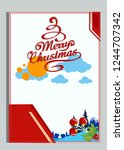 christmas greeting card with... | Shutterstock .eps vector #1244707342
