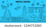 mexico  tijuana winter holidays ... | Shutterstock .eps vector #1244713285