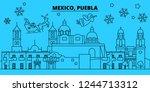 mexico  puebla winter holidays... | Shutterstock .eps vector #1244713312