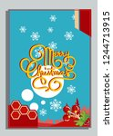 christmas greeting card with... | Shutterstock .eps vector #1244713915