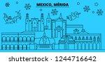 mexico  merida winter holidays... | Shutterstock .eps vector #1244716642