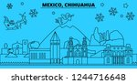 mexico  chihuahua winter... | Shutterstock .eps vector #1244716648